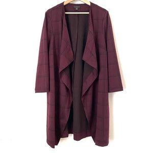 Lane Bryant Plaid Open Cardigan Coat 14/16